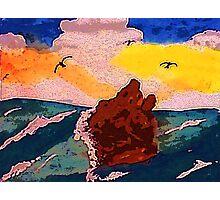 Magnifacent, watercolor Photographic Print