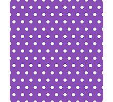 Small White Polka Dots on LightPurple background Photographic Print