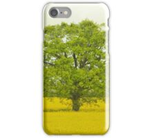 Tree in a Field of Gold iPhone Case/Skin