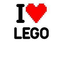 I Love LEGO Photographic Print