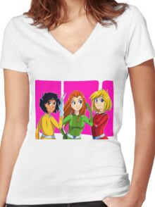 Totally Spies Women's Fitted V-Neck T-Shirt