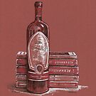 Books and wine by Dasidaria Hardcastle