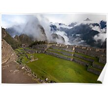 Breaking Clouds at Machu Picchu Poster