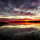 Sunset on the Waterhen by EchoNorth