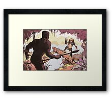 Predator- The face off Framed Print