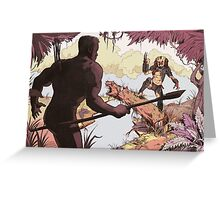 Predator- The face off Greeting Card