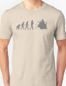 Drummer Evolution Funny Music humor Drums tee Mens T-Shirt T-Shirt