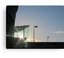 Waterfront Hall sunlight, Belfast Canvas Print