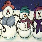 Snowman Family by DarkRubyMoon