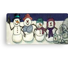 Snowman Family Canvas Print