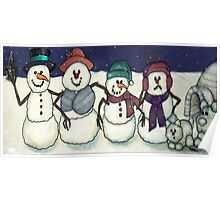 Snowman Family Poster