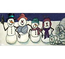 Snowman Family Photographic Print