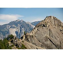 More Moro (Rock) - Taking the Summit Photographic Print