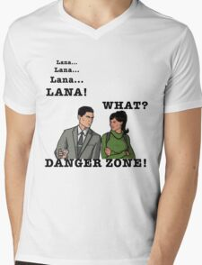 Lana The Danger Zone Mens V-Neck T-Shirt