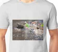 plastic bottles garbage damage river  Unisex T-Shirt
