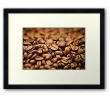 coffee beans wallpaper Framed Print