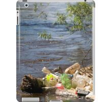 bottles damage river after flood iPad Case/Skin