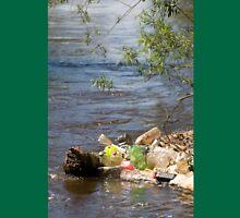 bottles damage river after flood Unisex T-Shirt