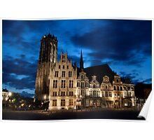 Night european city Poster