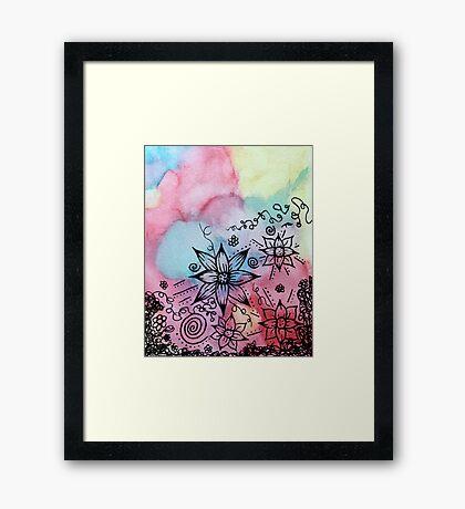 Abstract Garden Framed Print
