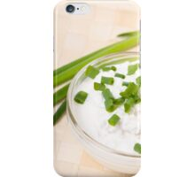 A bowl of cottage cheese iPhone Case/Skin