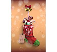 Knit Stocking Christmas Card Photographic Print