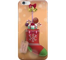 Knit Stocking Christmas Card iPhone Case/Skin