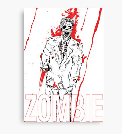 Zombie Office party Canvas Print