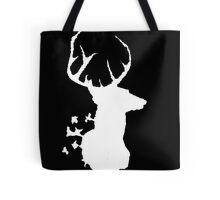 Deer White Tote Bag