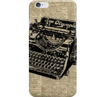 Vintage Typewritter Dictionary Art iPhone Case/Skin