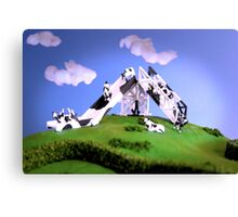 Cow Slide Canvas Print