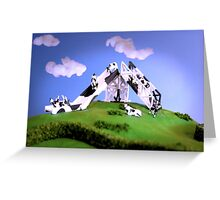 Cow Slide Greeting Card