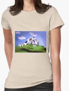 Cow Slide Womens Fitted T-Shirt
