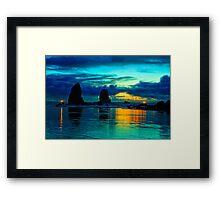 Oceans Light Framed Print