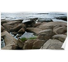 Shapes Along The Shore - Blackpoint  -Narragansett, RI  (c) Poster