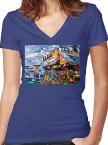 Crown Theater Women's Fitted V-Neck T-Shirt