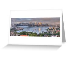 It's All Colour and Colour - Sydney Harbour (20 Exposure HDR Panoramic) - The HDR Experience Greeting Card