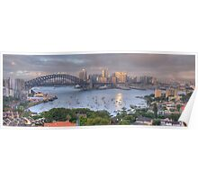 It's All Colour and Colour - Sydney Harbour (20 Exposure HDR Panoramic) - The HDR Experience Poster