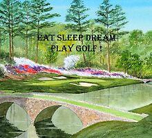 Eat Sleep Dream Play Golf ! Augusta National Golf Course by bill holkham