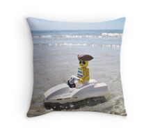 Pirate Jet Ski Throw Pillow