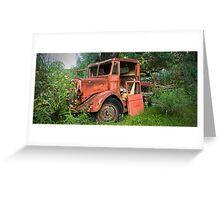 Red Truck Runis - Yerranderie Greeting Card