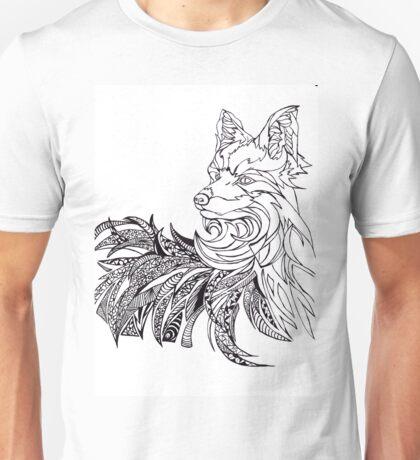 Black marker doodle fox Unisex T-Shirt