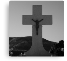 Wired To The Cross Canvas Print