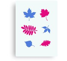 Bold Leaves Pattern Canvas Print