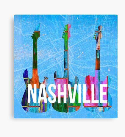 Nashville Music Canvas Print
