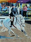 Determination - Young Girl at a Horseshow by Patricia Barmatz
