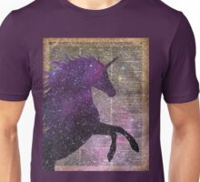 Magic Unicorn Space Stencil Dictionary Art Vintage Old-fashioned Unisex T-Shirt