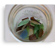 Jar Full of Sea Glass Canvas Print