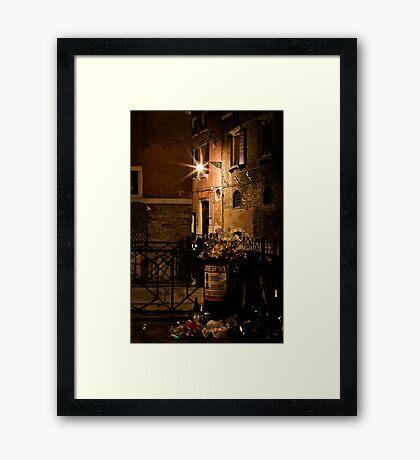 Gathering Place- Venice Trash Framed Print