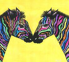 Neon Zebras by Angie B